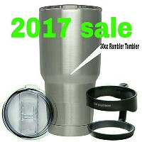 E.H brothers Rambler Tumbler Stainless Steel, 30 oz. handle and Splash Proof Lid by E.H brothers