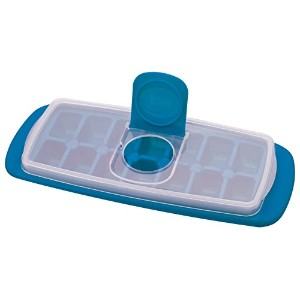 MSC International Joie No Spill Covered Ice Cube Tray with Lid, BPA-Free Plastic, 14-Cubes by MSC...