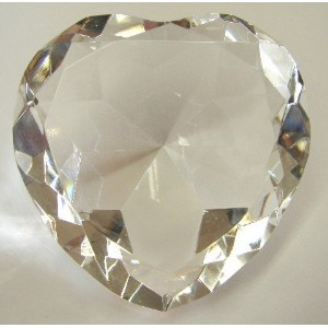 Heart Shape Clear Crystals-#80 with metal stand
