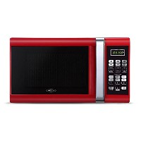 Bella 900-Watt Microwave Oven, 0.9 Cubic Feet, Red with Chrome by Bella