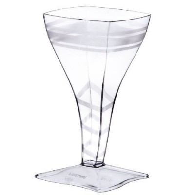 Fineline Settings 8-Piece Tiny Temptations Square Wine Glass, 2-Ounce, Clear [並行輸入品]