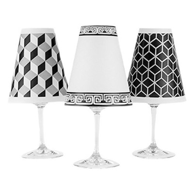 di Potter WS265 New York Paper White Wine Glass Shade, White (Pack of 6) [並行輸入品]