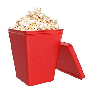 iCooker Microwave Popcorn Popper [Saves Calories] - Premium Quality Silicone - Hot Air Popcorn...