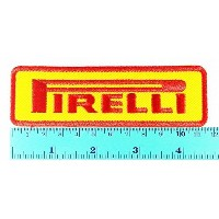 Yellow Pirelli Tires Motorcycles Racing Biker Logo Jacket Patch Sew Iron on Embroidered Symbol...