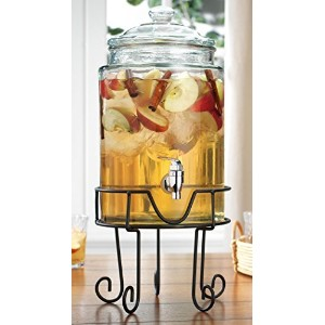 Durable Beverage Dispenser With Scroll Stand-1.5 gallon Drink Dispenser by TableTop by HE