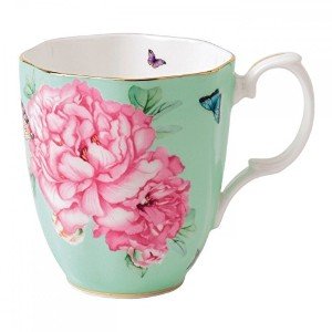 Royal Albert Friendship Vintage Mug Designed by Miranda Kerr, 13.5-Ounce, Green [並行輸入品]