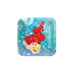 Disney Ariel The Little Mermaid Dream Big Square Dinner Lunch 9 Plates Party Supplies by Amscan
