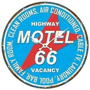 MDF WALL CLOCK MOTEL 66