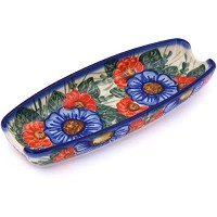 Ceramika Bona H7314G Polish Pottery Ceramic Corn Tray Hand Painted, 9-Inch [並行輸入品]