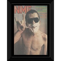 IAN DURY & THE BLOCKHEADS - 1979 NME Cover With Ian Dury Framed Mini Poster - 53x43cm