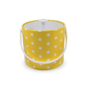 Mr. Ice Bucket 702-1D Polka Dot Ice Bucket, 3-Quart, Yellow [並行輸入品]