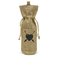 Hortense B. Hewitt Burlap Wine Bag, Heart and Arrow [並行輸入品]