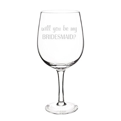 Cathy's Concepts Will You Be My Bridesmaid? X-Large Wine Glass, Clear [並行輸入品]