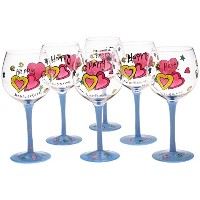 Certified International Special Occasions Anniversary 18-Ounce Wine Glass, Set of 6 [並行輸入品]