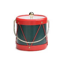 Mr. Ice Bucket Drum Ice Bucket, 3 quart, Red [並行輸入品]