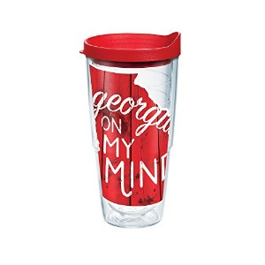 Tervis Georgia On My MindラップTumbler withレッド蓋、24オンス、クリア