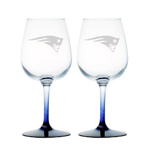 NFL New England Patriots 12-Ounce Wine Glass Set [並行輸入品]