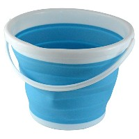 Southern Homewares Foldable Silicone Collapsible Bucket, 2.65 gallon, Blue [並行輸入品]