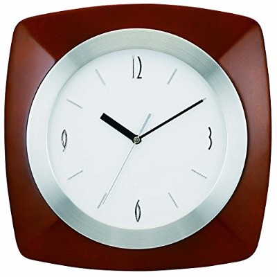 Tempus TC7902BR Wall Clock with Wood Aluminum Frame and Daylight Saving Time Auto-Adjust Movement,...