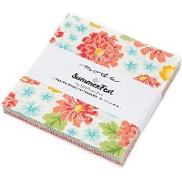 Summerfest Charm Pack By April Rosenthal of Prairie Grass Patterns; 42 - 5 Precut Fabric Quilt...