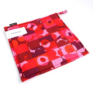 (マリメッコ) MARIMEKKO red/pink MINI RUUTU-UNIKKO POT HOLDER 鍋敷き #067386 330 並行輸入品
