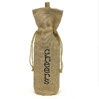 Hortense B. Hewitt Burlap Wine Bag, Cheers! [並行輸入品]