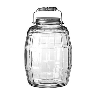 Anchor Hocking 2.5-Gallon Glass Barrel Jar with Brushed Aluminum Lid [並行輸入品]