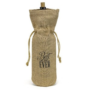 Hortense B. Hewitt Burlap Wine Bag, Best Day Ever [並行輸入品]