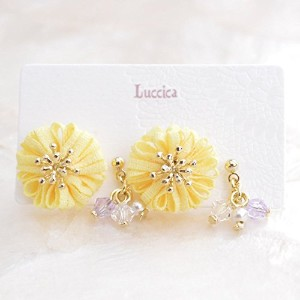 【Luccica /ルチカ】 mou flower ピアス / イエロー