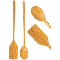 Neet Extra Long Wooden Spoon & Spatula (16 Inch) 100% Natural Acacia Wooden Cooking Utensils BMB...