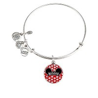 Disney Parks Alex and Ani Minnie Mouse Ears Hat Silver Charm Bracelet by Alex and Ani [並行輸入品]