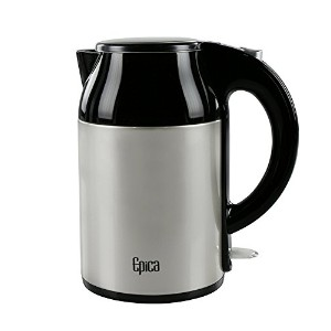 Epica 1.8 Quart / 1.7 Liter Stay-Cool Double Wall Stainless Electric Steel Kettle by Epica