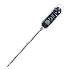 ICEWOLF Digital probe Cooking Meat Thermometer with Long Probe for Food, Meat , Candy and Bath Water - white by ICEWOLF