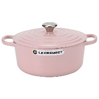 Le Creuset ルクルーゼ SIGNATURE シグニチャー Cocotte ronde 26cm ココットロンド Chiffon Pink シフォンピンク 両手鍋 [並行輸入品]