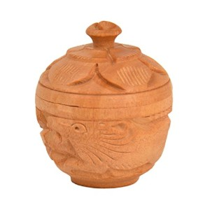 Bharat haat wooden kankavati small size fine wooden art and collectible and Decorative art BH05158