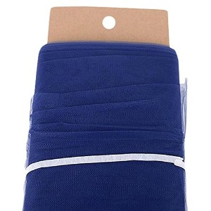 BB Crafts Polyester Tulle Fabric Bolt, 54/40 yd, Navy Blue by BBCrafts