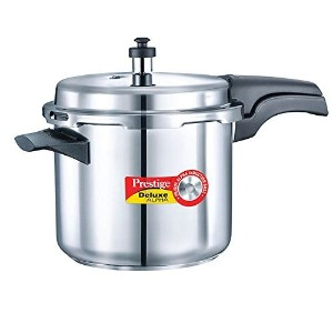 Prestige Alpha PRSDA-3.5L Induction Base Stainless Steel Deluxe Pressure Cooker, 3.5 L/Small,...