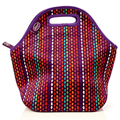 (Color) - Noosa Life LARGE Neoprene Lunch Bag - Insulated Tote - Heavy Duty Zipper - Premium...