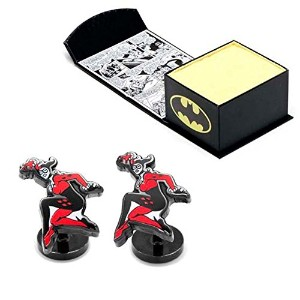 Officially Licensed Harley Quinn Cufflink withコミックボックスセット