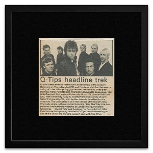 Q-Tips - 1981 Article With Tour Dates Framed Mini Poster - 18x18cm