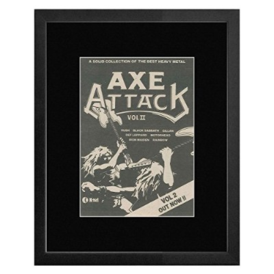 Axe Attack Vol II - A Collection Of the Best Heavy Metal 1981 Framed Mini Poster - 33x28cm