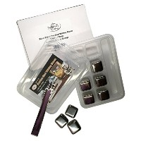 Sofie 's Cottage Whiskey Stones Set 8ステンレススチールWhiskey Stones with 1ペアのステンレススチールIce Tongs inプラスチックケース