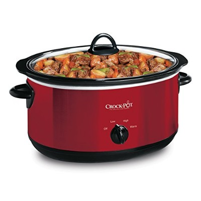 Crock Pot SCV603-R-NP 6 Quart Manual Slow Cooker with Travel Strap Red by Crock-Pot