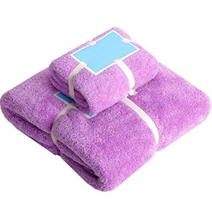 Zhhlaixing 2PCS Microfibre Extra Larger Bath Towel Quickly Dry タオル for Camping Travel Shower