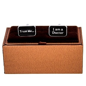 mrcuff Trust Me I am a doctorのペアCufflinks with aプレゼンテーションギフトボックス