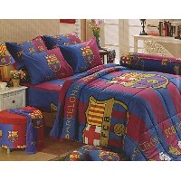 Barcelona Fc Football Club Official Licensed Bedding Set, Fitted Sheet, Pillow Case, Bolster Case,...