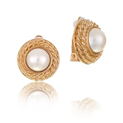 Rhea Braided Style Gold Plated Clip on Earrings in Box | Mothers Day Gifts