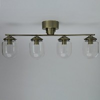 GLASS DOME CEILING LIGHT 4灯 ゴールド