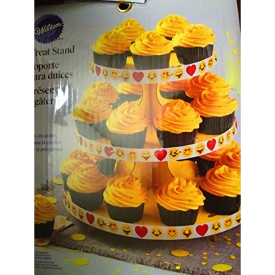 Happy Face treat Cardboard stand 3 layer holding 24 cup cakes