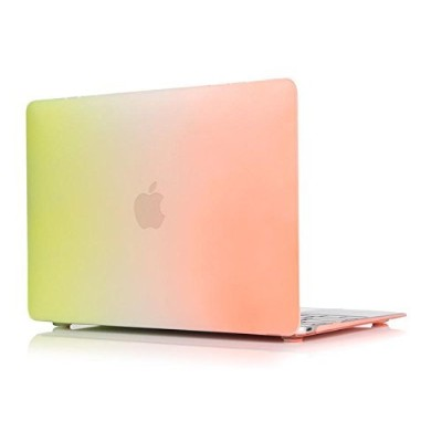 MacBook Pro Retina 13-inch Case, Soundmae Matte Rubberized Rainbow Colorful Hard Cases Cover For...